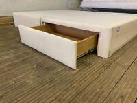 KING SIZE STAPLES BED BASE WITH DRAWERS