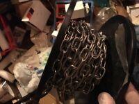 Steel welded chain