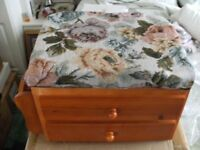 PADDED FOOTSTOOL / SEWING BOX (Brand New & Boxed)
