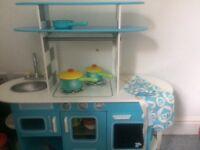 ELC kitchen with saucepans £40