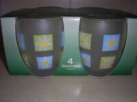 Brand NEW Set of 4 Glasses unused in box