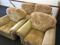 2 seater sofa & 2 chairs can deliver most areas
