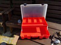 fishing tackle box and tackle