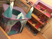 BUNDLE!!! DOLL HOUSE + FROZEN CASTLE + 19'DVD's and FREE GIFT