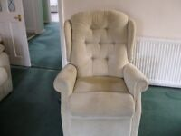 Recliner chair with power control, colour beige. in good condition.