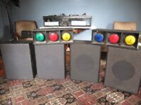 1970s DJ Equipment inc. decks, speakers, disco lights etc.