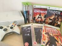 Xbox 360 Console + Controller + 10 Excellent Games + Wireless Headset + All Leads & Cables