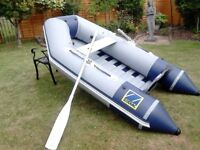 ZODIAC INFLATABLE DINGHY.2.6 METRES .EXCELLENT CONDITION