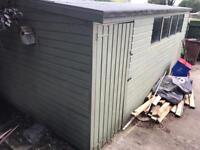 16ft X 10ft Solid wood shed, with electrics
