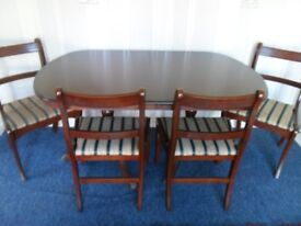 Table & 4 Chairs In Mahogany