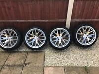 """3sdm staggered 18"""" alloy wheels"""