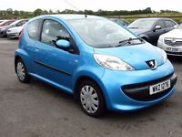 2008 Peugeot 107 1.0 petrol only 44000 miles, motd july 2017 excellent example only £20 a year tax