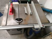 "SIP commercial table saw 10"" + extractor cast iron deck professional"