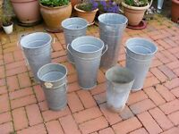 7x Used Florists Containers / Suitable for Patio Pots - ## NOW REDUCED ##