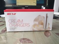 Mosa Cream Chargers 50s pack case price £295.00