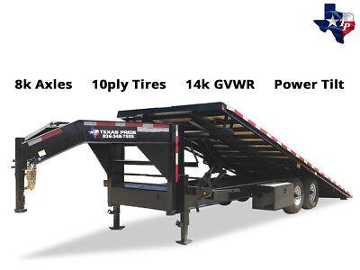 New 2019 Texas Pride 8 X 25 Hydraulic Power Tilt Trailer 14k Gvwr