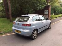 2004 Seat Ibiza 1,2 litre 3dr 2 owners