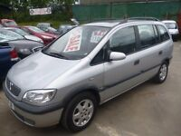 Vauxhall ZAFIRA Elegence,7 seat MPV,2 previous owners,great family car,runs and drives well