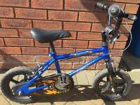 "Boys 12"" bike with stabilisers and helmet age 3-5 years"
