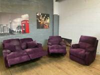 DFS FABRIC SOFA SET ELECTRIC RECLINERS 2-1-1 seater
