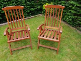 2 wooden chairs used