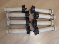 Adjustable kitchen or bathroom unit feet / legs
