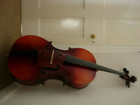 Full size cello with bow and case - made in Czechoslavakian , good condition, superb tone