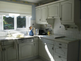 Kitchen Units White Pinted Oak (SOLD)