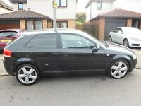 Lovely 2006 Audi A3 automatic in black, 2.0L petrol engine, 3dr