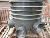 Inspection chamber base 5 inlet fixed 450mm dia