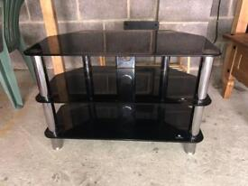 TV Unit - Black and silver