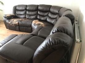 Corner Sofa and Recliner Chair (Collection only)