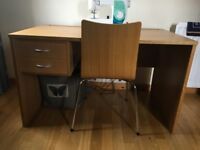 John Lewis Oak Desk and Chair (2 of)