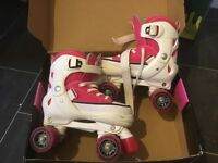 Girls SFR Miami Adjustable Quad Roller Skates - Size 3-6