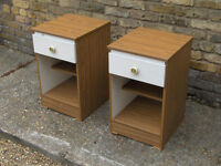 PAIR / 2 BEDSIDE CABINET / TABLE with Drawer FREE LOCAL DELIVERY