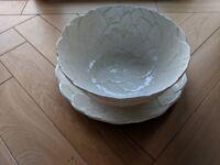 Beautiful Handmade Italian Platter and Bowl Set