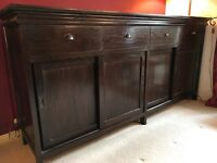 Beautiful solid wood sideboard. Lots of storage space , excellent condition