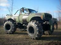 1974 Chevrolet C/K Pickup 2500 Monster truck Militaire bigfoot