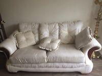 Faux leather sofa set