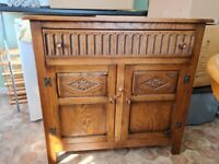 Sideboard with drawers and cupboards possibly solid oak