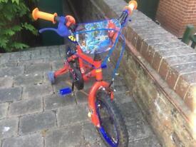 Kids Bike Spider-Man with Stabilisers