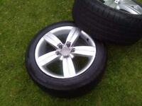 "Audi 17"" alloys with tyres"