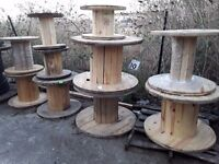 Cable drums reclaimed for up cycle various sizes available from 600mm to 1500mm diameter