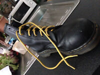 Dr Martens industrial boots, steel toe, size 10
