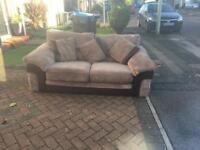 Fabric 3seater sofa