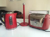 Morphy Richards kettle and toaster plus towel holder