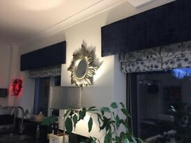 Roman blinds and matching pelmets - Custom made