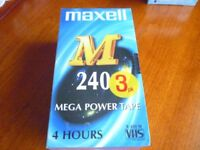 3 PACK OF MAXWELL VHS TAPES - 240