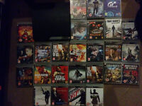PS3 320GB slim + Controller + 26 games (GTA 5/Last Of Us Game Of Year Edition 2x/DBZ XenoVerse..)