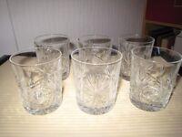 Edinburgh Crystal - Star of Edinburgh Whisky Tumblers